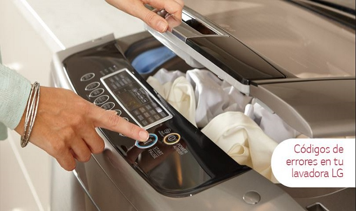 Error de lavadora lg y códigos de error